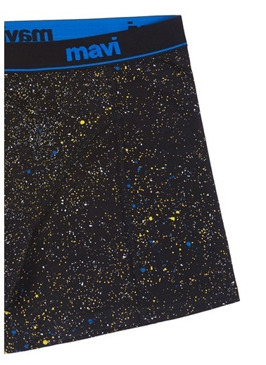 Mavi Desenli  Boxer Siyah